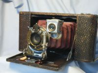 '      1A Folding Hawkeye Kodak Model 1 ' Kodak 1A Hawkeye Kodak Camera RED Bellows £99.99
